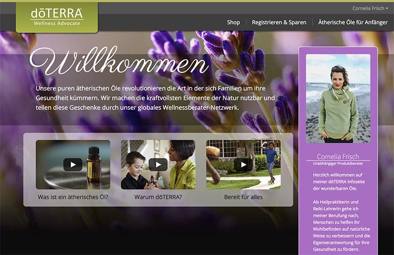 Cornlia doTERRA-Webseite